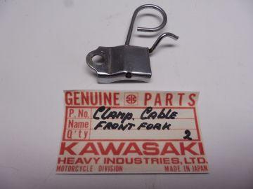 Clamp,cable frontfork Kawasaki model?? new No:2