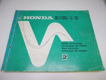 As new partbook Honda GL1100A-1A-DA / GL1100 B-1B-DB