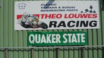 Banner QUAKER STATE water proof in super conditions.