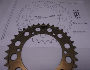 Renthal 316A 520 Chain rear sprocket alloy universal 34 - 35 - 36 - 37 - or as