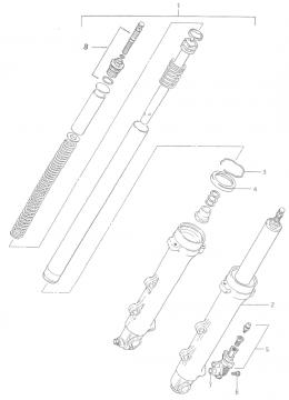 Suzuki RGB500 Front Fork