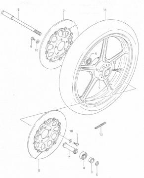RGB500 Front Wheel