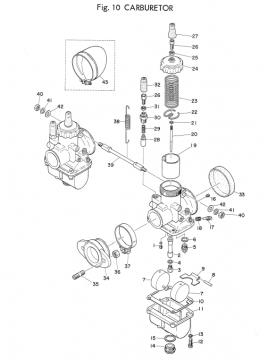 Yamaha TD2 Carburetor