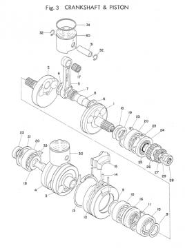 TD2 Crankshaft - Piston