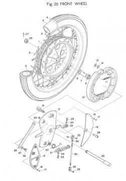 Yamaha TD2 Front Wheel