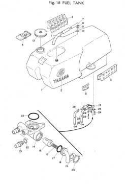 Yamaha TD2 Fuel Tank