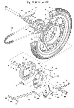 Yamaha TD2 Rear Wheel