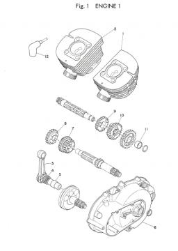Yamaha TD2B Engine 1