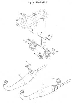 Yamaha TD2B Engine 2