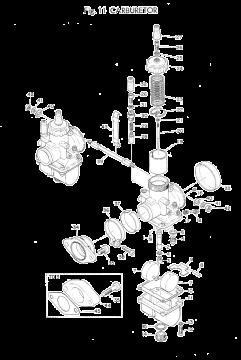 TR3 / TZ350 A-B Carburetor