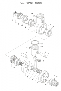 Yamaha TD3 Crankshaft - Piston
