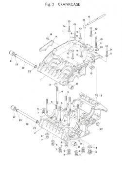 TR3 / TZ350 A-B Crankcase