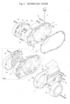TR3 / TZ350 A-B Crankcase Cover