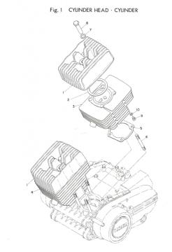 TR3 Cylinder Head - Cylinder