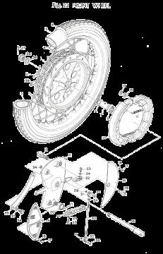 TD3 / TZ250 A-B Front Wheel