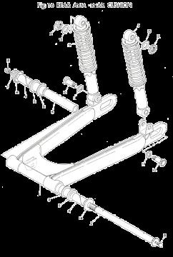 TR3 / TZ350 A-B Rear Arm - Rear Cushion