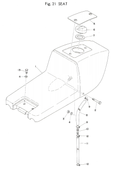 TR3 / TZ350 A-B Seat