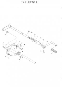 TR3 / TZ350 A-B Shifter B