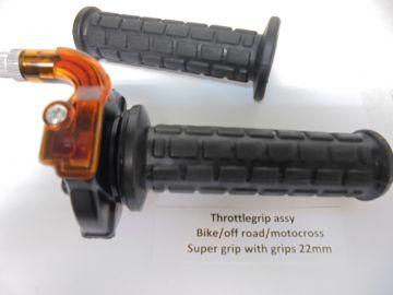 Throttle grip assy bike/enduro/off road/motocross etc.