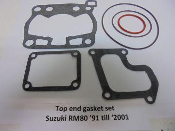 Gasket top end set Suzuki RM80 '91 till '01 new