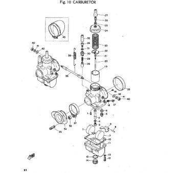 Yamaha TR2 Carburator