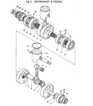 TR2 Crankshaft & Piston