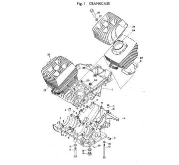 TR2 Cylinder and Crankcase