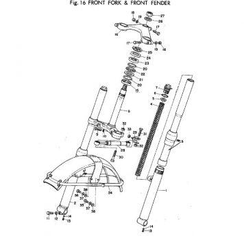 Yamaha TR2 Front Fork & Front Fender