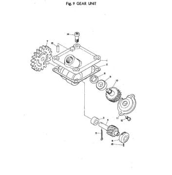 Yamaha TR2 Gear Unit
