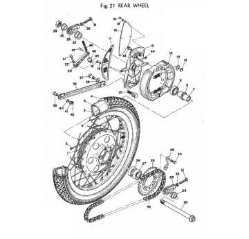 TR2 Rear Wheel