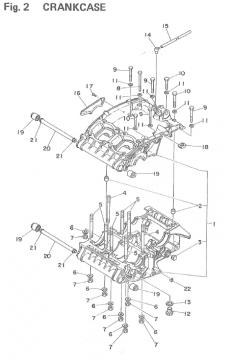 TZ250 F-G / TZ350 F-G Crankcase