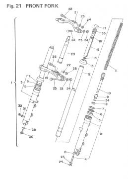 TZ250 F-G / TZ350 F-G Front Fork