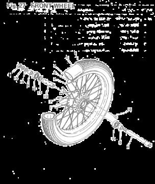 Yamaha TZ250 F-G / TZ350 F-G Front Wheel