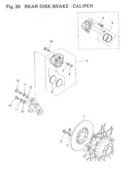 Yamaha TZ250 F-G / TZ350 F-G Rear Disk Brake - Caliper