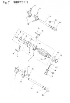TZ250 F-G / TZ350 F-G Shifter 1
