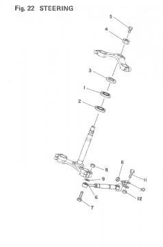 TZ250 F-G / TZ350 F-G Steering