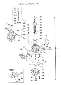 TZ250 C / TZ350 C Carburetor