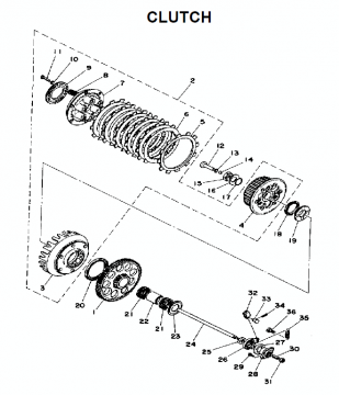 TZ250 C-D-E / TZ350 C-D-E Clutch