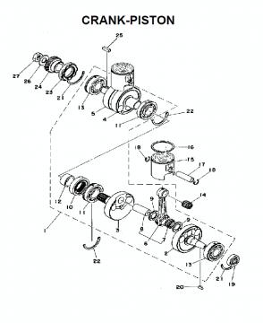 TZ250C / TZ350C Crank-Piston