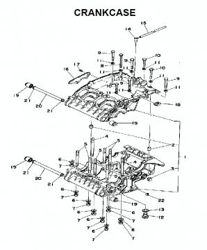 TZ250 C-D-E / TZ350 C-D-E Crankcase