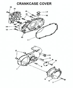 TZ250 C-D-E / TZ350 C-D-E Crankcase cover
