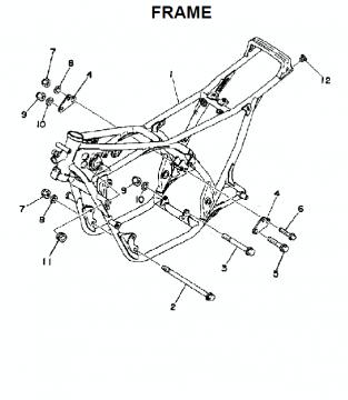 TZ250 C-D / TZ350 C-D Frame