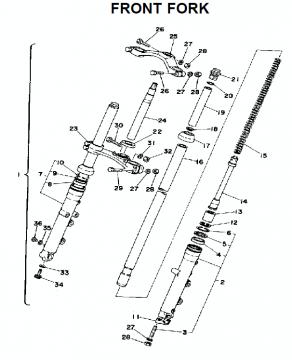 TZ250 C-D-E / TZ350 C-D-E Front fork