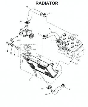 TZ250 C-D-E / TZ350 C-D-E Radiator