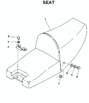 TZ250 C-D-E / TZ350 C-D-E Seat