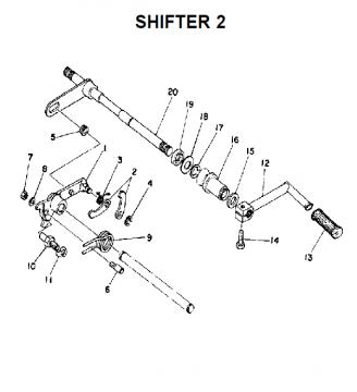 TZ250 C-D-E / TZ350 C-D-E Shifter 2