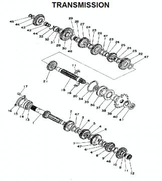 TZ250 C-D-E / TZ350 C-D-E Transmission
