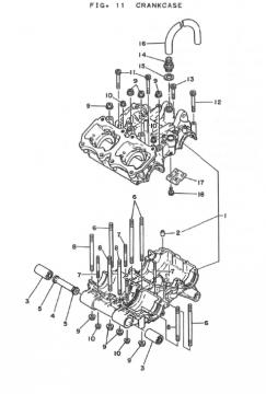 Yamaha TZ250 H-J Crankcase