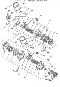 Yamaha TZ250 H-J Crankshaft - Piston