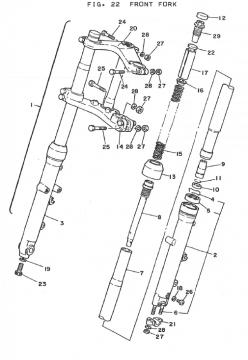 Yamaha TZ250 H-J Front Fork